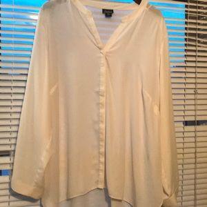 Semi sheer button down blouse